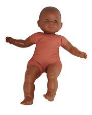 Babypuppe Puppe dunkelhäutig, Weichkörper, 60 cm NEU