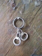 "Fetish Handcuff Cartilage Piercing Captive Ring Tragus Earring 14 Gauge 1/2"""