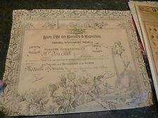 Livre d Or Concours Expositions Diplome Agricole Commemoratif 1907 Hoticulture