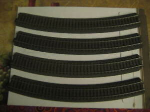 Used Lot of 4 Marklin H0 24430 Curved C Track Section from layout - LN