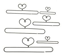 """Wire Quilt Hanger with Heart on Top - Split Bottom  3"""", 4"""", 5"""", 6"""", 7.5"""" & 9"""""""