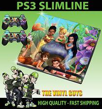 Playstation Ps3 Slim pegatina Tinkerbell Y Sus Amigos Hadas 001 Skin + Pad Skins