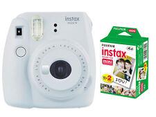 Fujifilm instax mini 9 Instant Fuji Film Camera, Smokey White + 20 Prints