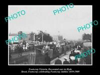 OLD 8x6 HISTORICAL PHOTO OF FOOTSCRAY VIC 50th ANNIVERSARY CELEBRATION 1909