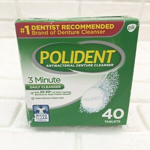 Polident Polident Partials Denture Cleanser, 40 Count NEW