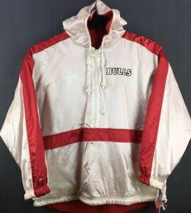 CHICAGO BULLS Jordan Vintage NBA Reebok Reversible Hooded Sweater (XXL) *NEW*