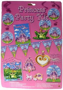 Princess Birthday Kids Party Kit Happily Ever After Decorations Signs Game