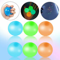 8/16PCS Sticky Balls Glow Squishy for Stress Ceiling Relief Globble Kid Toy Gift