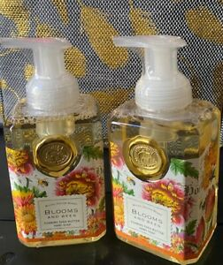 2 New Sealed Blooms & Bees Michel Design Works Foaming Hand Soap 17.8 fl oz Lot
