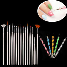 20pcs Set Nail Art Paint Dot Design Draw Pen Brush Set Kits Tool for UV Gel Diy