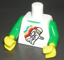 LEGO White SPACE Minifigure TORSO Classic Spaceman Shirt w/ Green Arms