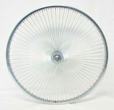 "26"" Beach Cruiser Chopper Lowrider Front Bicycle Wheels with 140 spokes Chrome"