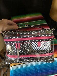 Modella Black & White Weekender Travel Bag Set