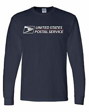 USPS POSTAL long Sleeve Heavy Duty USPS LOGO Size XL GILDAN 6oz Shirt
