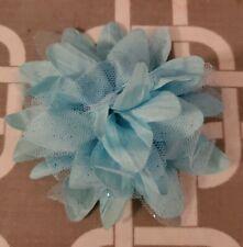 """New listing 4"""" Blue Shimmer Dog Collar Flower"""