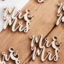 20 pièces Boho en bois Mr.et Mme Confetti de table anniversaire de mariage
