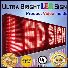 """Outdoor Window Led Signs 12"""" x 76"""" P10 Programmable Scrolling Message Red Color"""