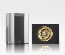 Libra+ Pro 200m Kabellose Türklingel Set Messing Druckstange / schwarz Perspex,