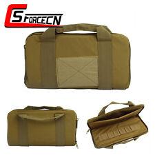 """14"""" CS Padded Handgun Pistol Carry Hand Bag Soft Gun Magazine Case Tactical Tan"""