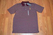 NWT Mens Knights Apparel ARIZONA STATE Striped Short Sleeve Polo Shirt M Medium