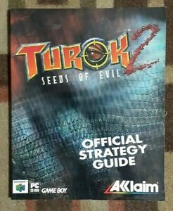 Turok 2 Seeds Of Evil Acclaim Official Strategy Game Guide PC/N64/Game Boy