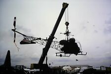 2/230 Bell 47 Helicopter being moved  Kodachrome Slide