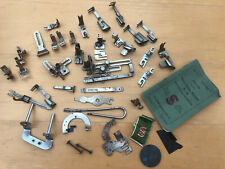 Antique Singer Sewing Machine No .66 Assorted Feet & Attachments + Instructions