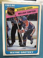 1984-85 Wayne Gretzky OPC Scoring Leader hockey card - #380 - Edmonton Oilers