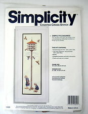 Simplicity Counted Cross Stitch Kit Simple Pleasures Amish Girls Birdhouse