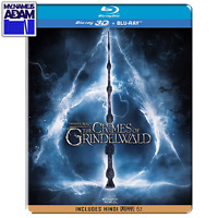 FANTASTIC BEASTS: THE CRIMES OF GRINDELWALD Blu-ray 3D + 2D STEELBOOK