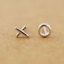 925 Sterling Silver Lovely XO Tiny Post Stud Earrings A1151