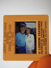 Original Press Promo Slide Negative - Kenny Rogers & Marianne Rogers - 1990's