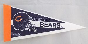 "Vintage CHICAGO BEARS Mini Pennant Team Logo Decoration SIGN 4"" x 9"""