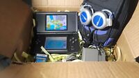 Nintendo DS lite LOT game charger headphones carry bag