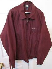 Tommy Bahama Full Zip Golf Jacket Large Dark Burgundy EUC