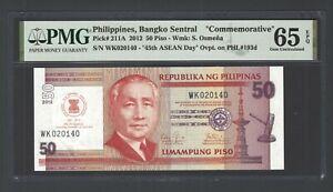 Philippines 50 Piso 2012  P211A Commemorative Uncirculated  Grade 65