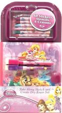 Disney Princess Take Along Sketch and Create Dry Erase Set Stickers Crayons Sten