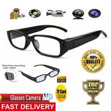 Brille mit versteckter Mini Spycam, kleine Spionage-Kamera 1080p HD Minikamera