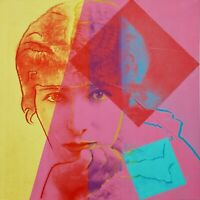 "ANDY WARHOL Pop Art Poster or Canvas Print ""Sarah Bernhardt"" Up to 24''"