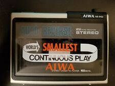 "AIWA HS-P02 Vintage Portable Cassette Player Auto Reverse Silver Sold ""As-is""."