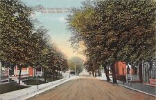 Bath Pennsylvania~Walnut Street Homes From Main St~Bunting~Dirt Road~1908 PC