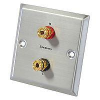 2x Lautsprecherterminal Boxen Terminal Lautsprecher Schraub XLR PAAR #2277