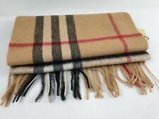 Burberry bufanda cachemira scarf 100% 180cm