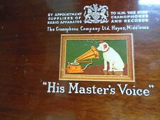 More details for vintage 1940 / 1950 valve radio (his masters voice)