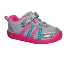 Infant Toddler Girls  Garanimals Gray Basic Athletic Shoes Size 5
