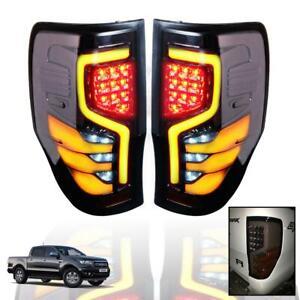 Tail Lights Lamp Smoke Dark Tint LED For Ford Ranger T6 PX2 MK2 XLT 2012-2019