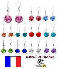 Lot 20 paires boucles d'oreilles shamballa pendantes revendeur Bijoux FRANCE