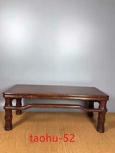 Old Chinese Ancient  Huanghuali Wood Dynasty Bamboo Design Tea Table Desk