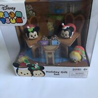Disney TSUM TSUM Vinyl Holiday Christmas Mickey Minnie Mouse Pluto Gift Set NEW
