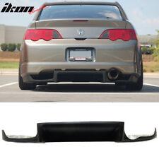 02-06 Acura RSX J Style Rear Bumper Lip Diffuser Black FRP